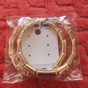 Gold bamboo hoop